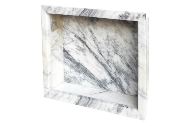 Nicho para Banheiro em Mármore 30x30cm Branco - Villas Deccor