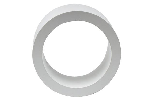 Nicho Redondo 32cm Branco - Decorprat