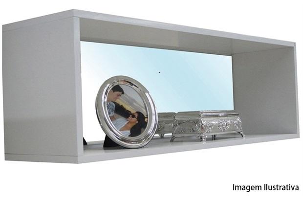 Nicho Retangular com Espelho Branco Ref.: 16761  - Sicmol