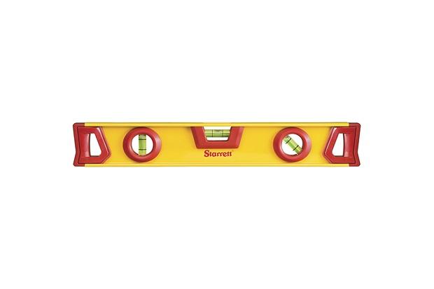 Nível de Alumínio 12'' Amarelo E Vermelho - Starrett