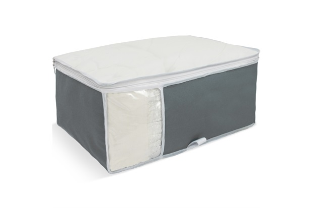 Organizador para Edredons com Visor 40x48x20cm Cinza - Boxgraphia