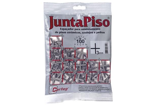 Pacote Espaçador Juntapiso 3,0mm Plástico - Cortag