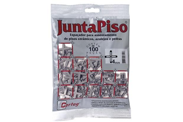 Pacote Espaçador Juntapiso 4,0mm Plástico - Cortag