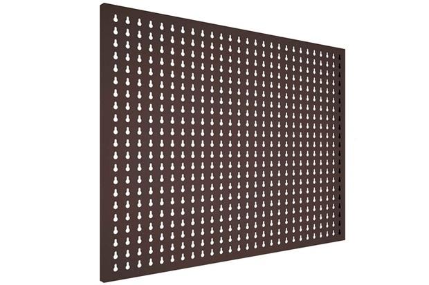 Painel em Aço para Ferramentas com 24 Ganchos Plásticos 57,5x72,5 Cinza - Presto