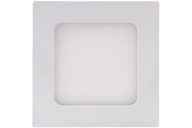 Painel Led de Embutir Quadrado 6w Bivolt Smart 12x12cm 3000k - Brilia