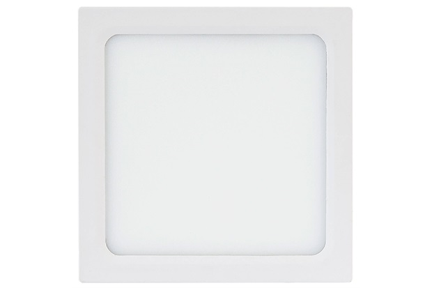 Painel Led Quadrado de Embutir 24w Bivolt 29cm Branco 3000k Luz Amarela - Brilia