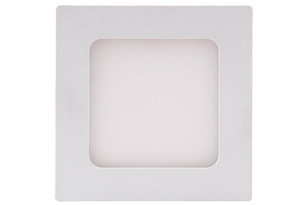 Painel Led Quadrado de Embutir 6w Bivolt 12cm Branco 6500k Luz Branca - Brilia