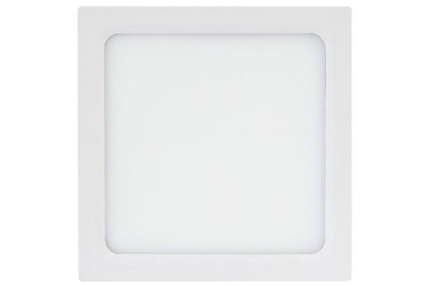 Painel Led Quadrado de Sobrepor 18w Bivolt 22cm Branco 3000k Luz Amarela - Brilia