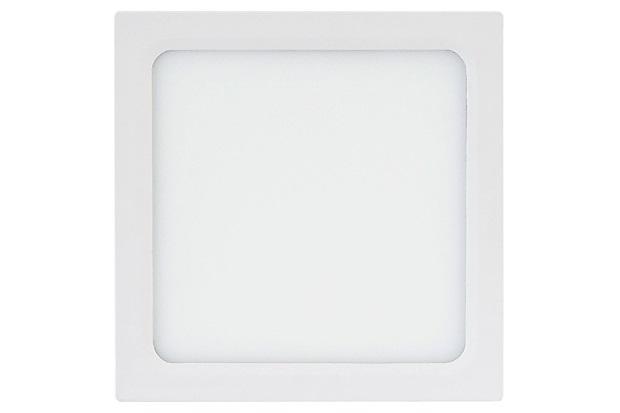 Painel Led Quadrado de Sobrepor 18w Bivolt 22cm Branco 6500k Luz Branca - Brilia