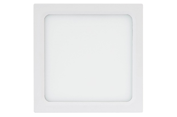Painel Led Quadrado de Sobrepor 24w Bivolt 30cm Branco 6500k Luz Branca - Brilia