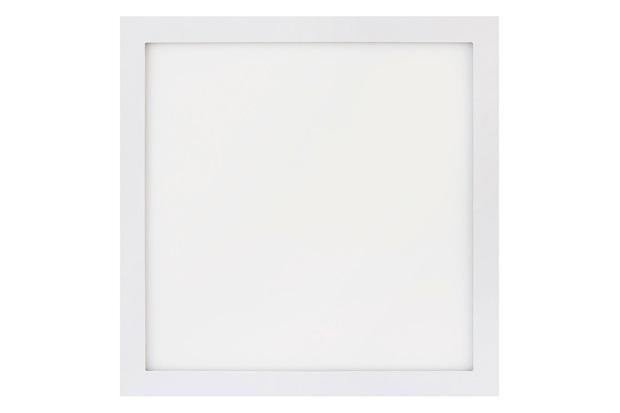 Painel Led Quadrado de Sobrepor 32w Bivolt 40cm Branco 3000k Luz Amarela - Brilia