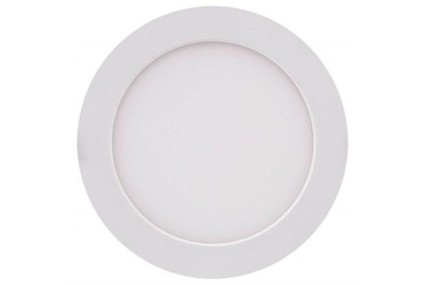 Painel Led Redondo de Embutir 12w Bivolt 17cm Branco 3000k Luz Amarela - Brilia