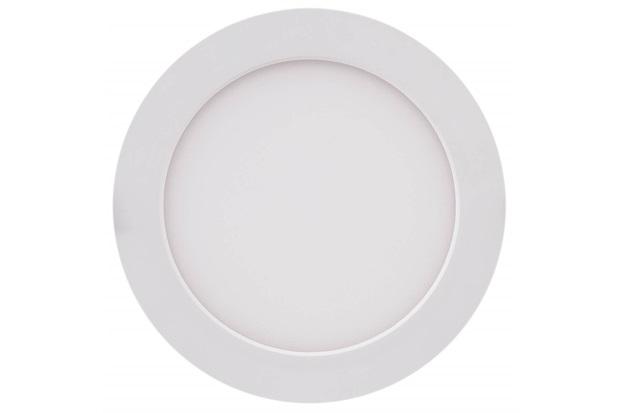 Painel Led Redondo de Embutir 12w Bivolt 17cm Branco 6500k Luz Branca - Brilia