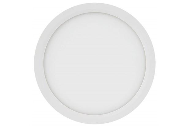 Painel Led Redondo de Sobrepor 18w Bivolt 22,5cm Branco 6500k Luz Branca - Brilia