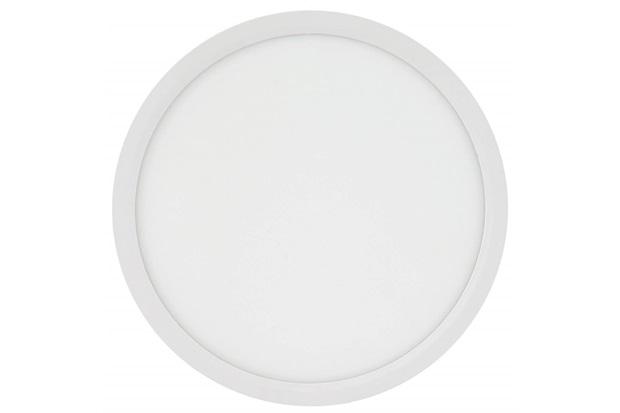 Painel Led Redondo de Sobrepor 24w Bivolt 29,5cm Branco 3000k Luz Amarela - Brilia