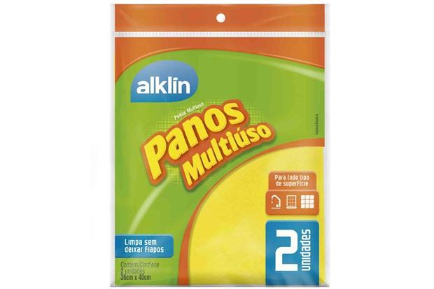 Pano Multiuso 36x40cm Amarelo - Alklin