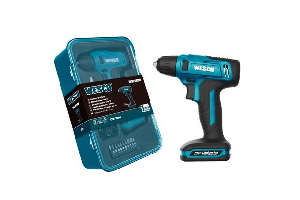 Parafusadeira E Furadeira a Bateria 12v 3,8'' Ws2555k Azul - Wesco