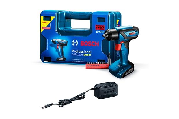 Parafusadeira E Furadeira Bivolt Gsr 1000 Smart Professional sem Fio Azul E Preta  - Bosch