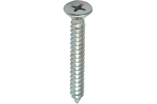 Parafuso Atarraxante para Parafusadeira Cabeça Chata 3,5x19mm com 20 Peças Zincado - Fixtil