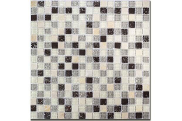 Pastilha Borda Bold Craquelada Cinza E Marrom 29,5x29,5cm - Henry