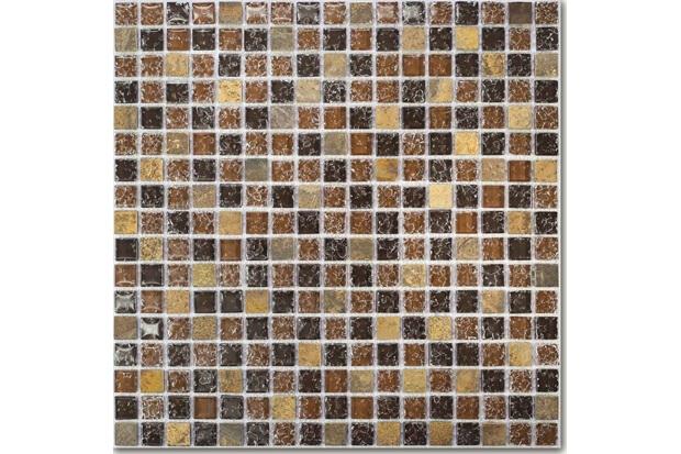 Pastilha Borda Bold Craquelada Marrom 29,5x29,5cm - Henry