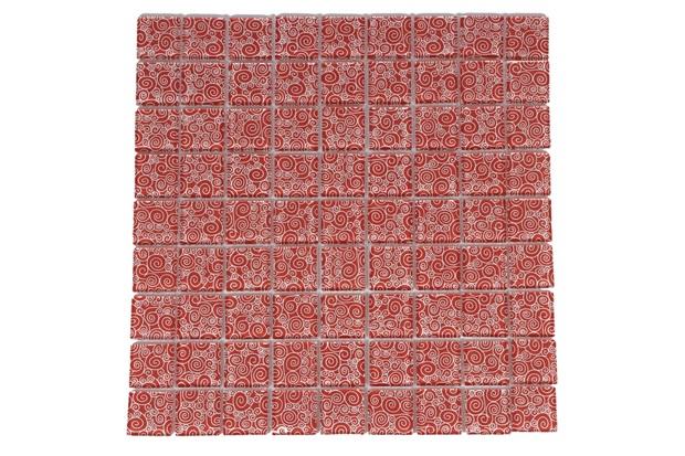 Pastilha Borda Bold Retrô Caracol 30x30cm Vermelha - Henry