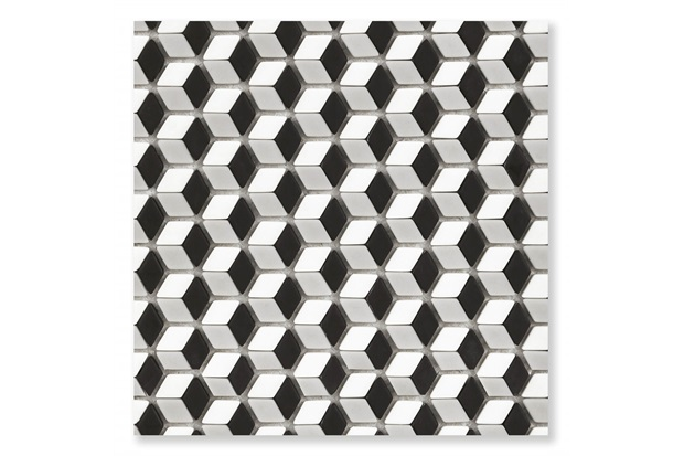 Pastilha de Vidro Borda Bold Illusion Mix Matte Bege 30x30,2cm - Cerâmica Portinari