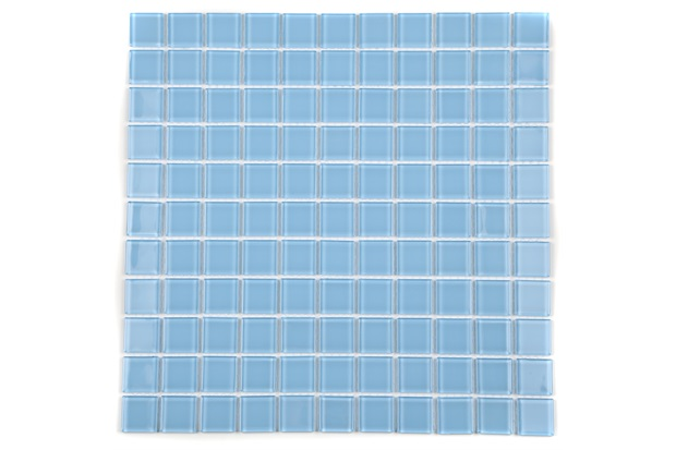 Pastilha de Vidro Cristal Azul Claro 30 X 30 Cm 1 Peça - Casanova