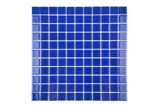 Pastilha de Vidro Cristal Azul Escuro 30 X 30 Cm 1 Peça - Casanova