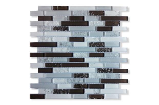 Pastilha de Vidro Fileto Viena 31x31cm - Glassline