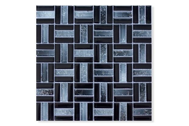 Pastilha de Vidro Trend Vulcano Negro 31x31cm Preto - Glassline