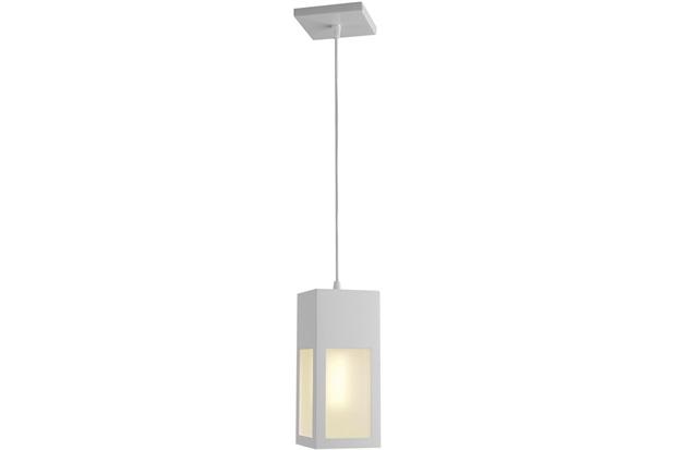 Pendente de Alumínio para 1 Lâmpada Bolt Branco - Ideal Iluminação