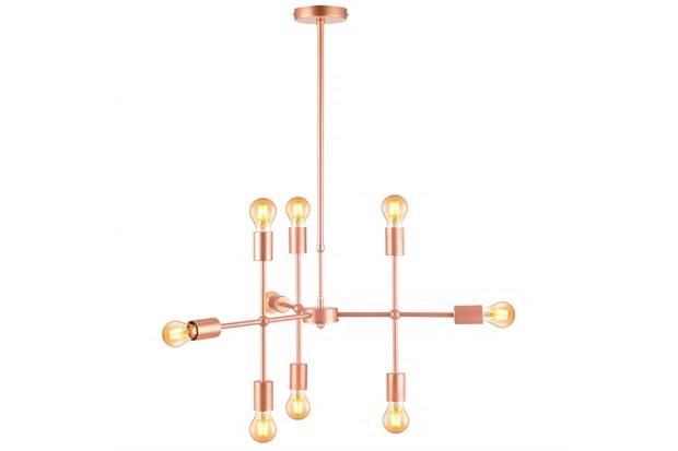 Pendente em Aço para 9 Lâmpadas Hash 66x29cm Cobre - Avant
