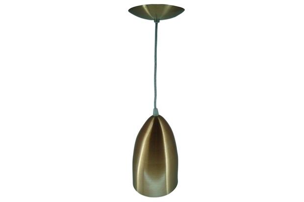 Pendente em Alumínio para 1 Lâmpada 23x14cm Cobreado - Lustres Jordano