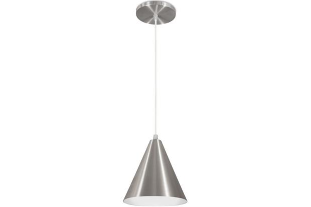 Pendente em Alumínio para 1 Lâmpada Cone Minas Gerais 18x18cm Escovado - Nacional Iluminação