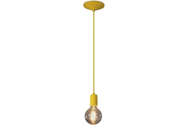 Pendente em Alumínio para 1 Lâmpada Orbital Amarelo - Nacional Iluminação