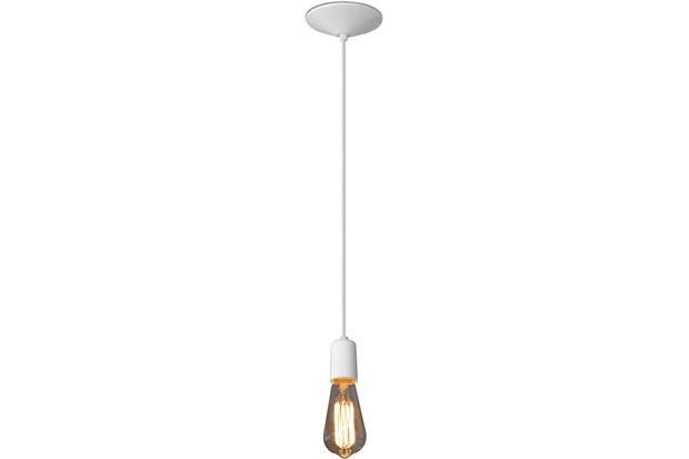 Pendente em Alumínio para 1 Lâmpada Orbital Branco - Nacional Iluminação
