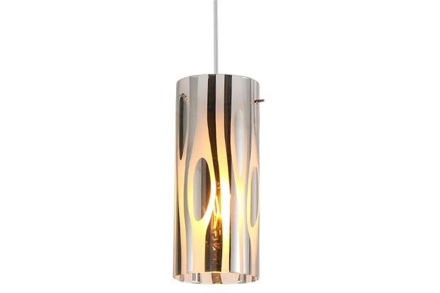 Pendente em Vidro E Metal para 1 Lâmpada Zibra Leitoso - Taschibra