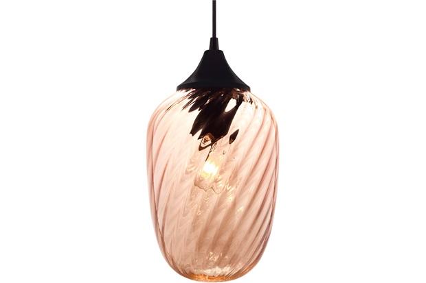 Pendente em Vidro para 1 Lâmpada Marrakesh 24cm Conhaque - Taschibra