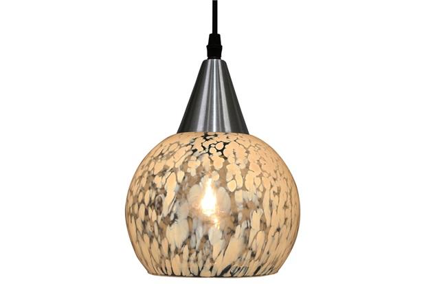 Pendente em Vidro para 1 Lâmpada Rovigo 40,5x19cm Transparente Leitoso - Taschibra