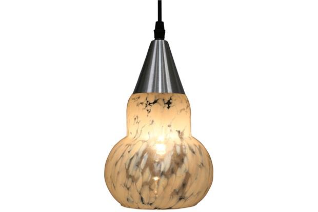Pendente em Vidro para 1 Lâmpada Verona 19cm Transparente Leitoso - Taschibra