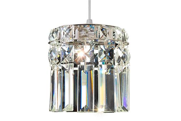 Pendente Redondo para 2 Lâmpadas Paris 12x37cm Espelhado - Bronzearte