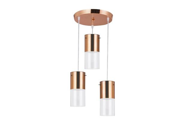 Pendente Redondo para 3 Lâmpadas First 12cm Cobre - Bronzearte