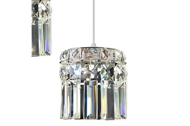 Pendente Redondo para 3 Lâmpadas Paris 12x42cm Espelhado - Bronzearte
