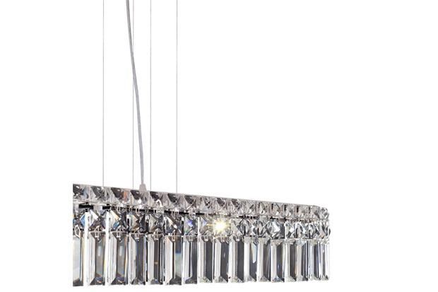 Pendente Retangular para 4 Lâmpadas Paris 12x60cm Espelhado - Bronzearte