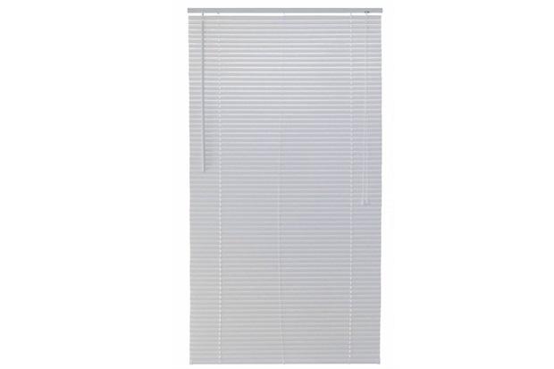 Persiana Horizontal Pvc Block Branca 80x160cm - Top Flex