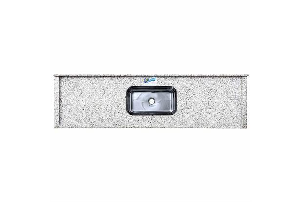 Pia de Granito com Cuba em Inox Elegance 150cm Branco Portinari - Venturini