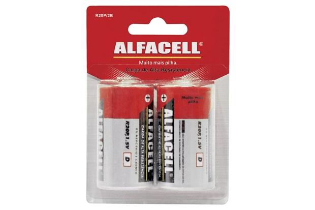 Pilha Comum 1,5v com 2 Unidades - Alfacell