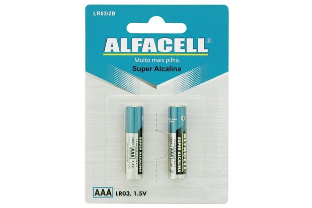 Pilha Palito Alcalina Aaa 1,5v com 2 Unidades - Alfacell