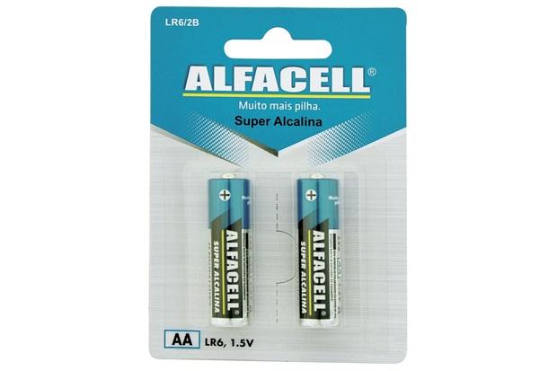 Pilha Pequena Alcalina Aa 1,5v com 2 Unidades - Alfacell
